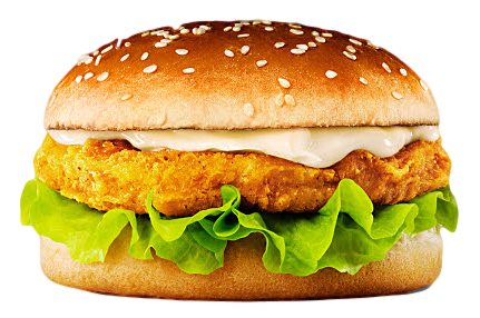 Chicken burger with cheese and salad £2.80
