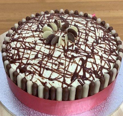Triple chocolate cake £3.30 per slice